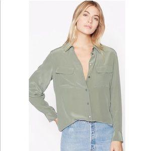 NWT Equipment Signature Silk Sage Green Shirt